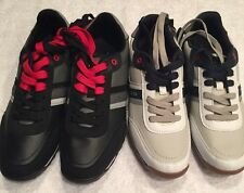 BRAND NEW! Tommy Hilfiger Low White/Black Casual Shoes Oxford Mens Size 8, 10,12