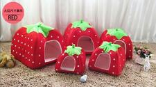 Basket Warm Kennel Doggy Puppy House Strawberry Dog Cat Soft Bed Cushion Pet