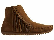 Minnetonka Willow Boot Womens 663 Brown Suede Fringe Boots Booties Shoes Size 8