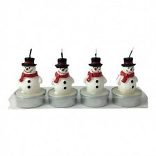 Snowmen - Christmas Tree Tea Lights & Glass Star Holders - Snowman - Tealight