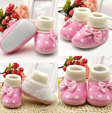 1 Pair Warm Hot Toddler Baby Shoes Newborn Girl Infant New Soft Sole Boots Cute