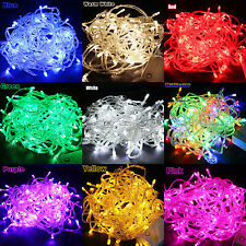 10/20M 100/200 LED Fairy String Light Lamp Bulb Party Christmas Xmas Tree Decor