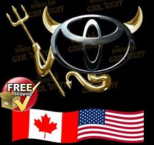 TOYOTA ~New 3D Gold , Red  or Chrome Devil Decal Sticker For Car Emblem Logo GTC