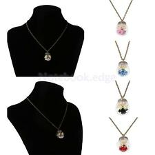 Party Dried Flower Glass Ball Bottle Handmade Antique Pendant Clavicle Necklace
