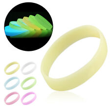 Mixed Color Glow in the Dark Luminous Elastic Rubber Wristband Bracelet