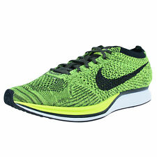 NIKE FLYKNIT RACER RUNNING SHOES VOLT BLACK SEQUOIA 526628 731