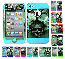 KoolKase Hybrid Silicone Cover Case for Apple iPhone 4 4S - Skull Tree 06