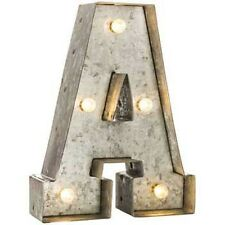 Galvanized Marquee Lighted Letter - A You Choose letter.Free Shipping.