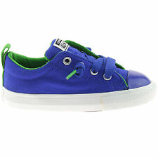 BOYS CONVERSE STREET SLIP TRAINERS SIZE UK 4 - 5 INFANTS RADIO BLUE 742895F