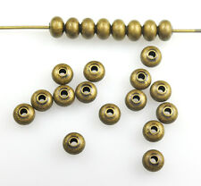 Antique Gold Plated Smooth Rondelle Beads 4.5MM