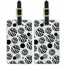 Luggage Suitcase Carry-On ID Tags Set of 2 Zebra Pattern Print