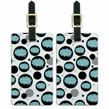 Luggage Suitcase Carry-On ID Tags Set of 2 Dreaming Of A-F