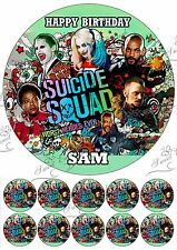 suicide squad Large Cake Topper Edible Icing Birthday Personalised PARTY +10