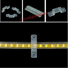 10-100pcs 8mm 10mm 12mm Width LED Fixing Silicone Mounting Clips For LED Strip