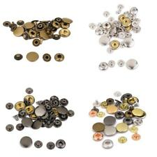 Metal Poppers Snap Fasteners Press stud Sewing Leather craft Clothes Bags 15mm