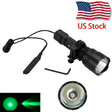 Tactical 5000lm CREE T6 Whit /Green Rechargeable LED Flashlight Torch 18650 Lamp