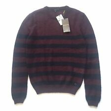 NWT $795 Gucci Men's Navy Wine Red Nautical Stripe Mohair Silk Sweater AUTHENTIC