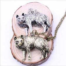 Occident Vintage Retro Charm Necklace Long Chain New Pendant Jewelry Wolf Men