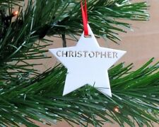 Personalised Christmas Tree Star Bauble Christmas Decoration Free UK Delivery