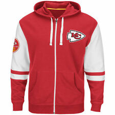 NEW Mens MAJESTIC Kansas City Chiefs 1960 Chiefs Football NFL Red Zip Up Hoodie
