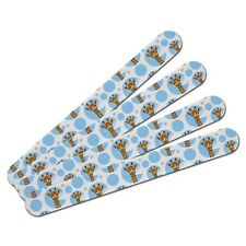 Double-Sided Nail File Emery Board Set 4 Pack Animals Going On Safari
