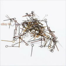 Wholesale Iron Eyepins Finding Eye Head Pins Jewelry Making 18mm 5 Colors Choose