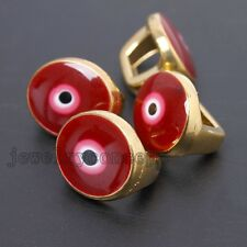 50pcs Enamel&Gold Plated Alloy Round/Oval Evil Eye Buckles Charms Findings DIY J