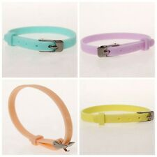 10/50x Newest Candy Color Silicone Buckle Wristbands Bracelets Four Colors J