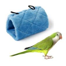 Blue Hammock Hanging Cave Cage Plush Snuggle Happy Hut Tent Bed Parrot Toy S M L