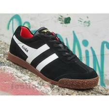 Gola Harrier Suede CMA192AW207 Mens Shoes Black White Red Casual Sneakers