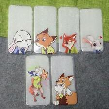 Funny Cartoon Zootopia Judy Nick Couple TPU Case Cover for iPhone 6 6S Plus P388
