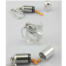 Mini Bottle Holder Container Medicine Waterproof Pill Box Aluminum Keychain Hot