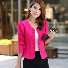 Fashion Casual Women Slim Solid Suit Blazer Jacket Coat Outwear Candy Color New