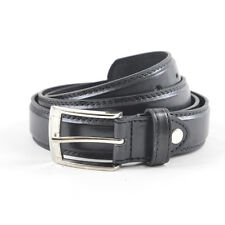 MENS TWIN STITCH DETAIL LEATHER  LINED BELT