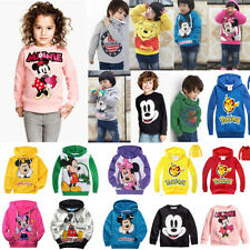 POKEMON Kids Boys Girls Pikachu Mickey Hoodies Sweatshirts Tops T Shirt Coat New
