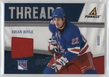 2011-12 Pinnacle Threads #51 Brian Boyle New York Rangers Hockey Card