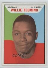 1965 Topps CFL #8 Willie Fleming BC Lions (Vancouver Lions) (CFL) Football Card