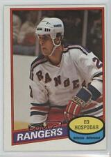 1980-81 O-Pee-Chee #366 Ed Hospodar New York Rangers Rookie Hockey Card