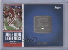 2011 Topps Super Bowl Legends Commemorative Ring #SBCR-XXIII Jerry Rice Card