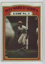 1972 Topps 226 1971 World Series Game No 4 (Roberto Clemente) Pittsburgh Pirates