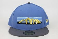 Denver Nuggets Blue / Gray Lid / Gold Logo NBA New Era 59Fifty Fitted Hat Cap EB