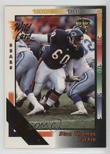 1992 Wild Card 50 Stripe #138 Stan Thomas Chicago Bears Football