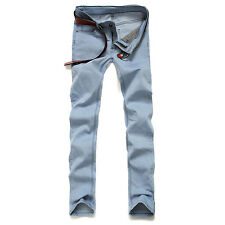 Fashion Mens Designed Straight Slim Moto Biker Jeans Denim Pants Trousers Skinny