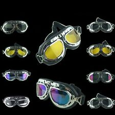 Motorcycle Biking Aviator Goggles Motor Motocross Protect Glasses Vintage Style