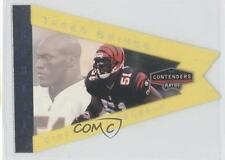 1998 Playoff Contenders Pennants Yellow #19 Takeo Spikes Cincinnati Bengals Card