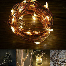 20/30/40/50 LED Christmas Wedding Party Copper Wire String Fairy Lights Cheaply