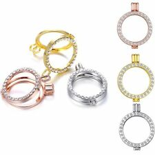 Living Memory Locket Crystal Necklaces Floating Charms Jewellery Pendants 35mm