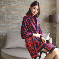 Winter Lady Women Long Style Warm Soft Scarf Aircraft Pattern Dual-use Shawl