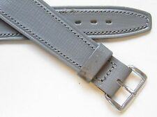 Vintage 50's grey stitched wirelug / open end watch band ~ 18 mm
