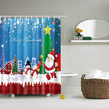 """Shower Curtain Bathroom Waterproof Polyester Fabric Drapes with 12 Hooks 71"""""""